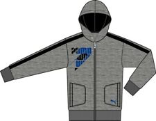 Puma Children Graphic Hooded Sweat Jacket Sports or Casual Jacket grey/blue