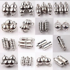 Useful 10 Sets Silver Plated Strong Magnetic Clasps Tube Barrel Hooks 16 Styles
