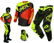 Oneal Hardwear Flow Vented MX Combo neon yellow red MX Motocross Enduro