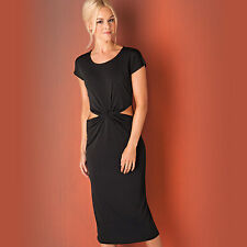 Womens Glamorous Cut Out Twist Dress In Black From Get The Label