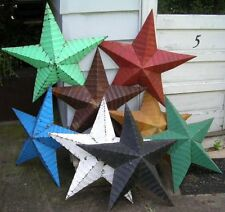 "authentic AMISH BARN TIN STAR primitive rustic 22"" MANY COLORS red black white"