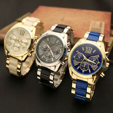 Mens Stainless Steel Sport Bangle Wrist Watch Wristwatches Jewellery Watches