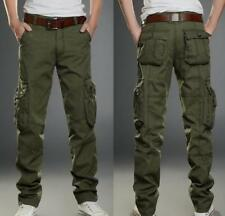 Mens Tactical Overalls Pants Pocket Military Leisure Cargo Combat Trousers New#