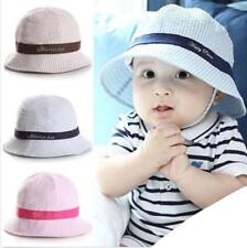 Cute Toddlers Baby Girls Flower Stripe Sun Hat Cap Summer Cotton Hat Bonnet