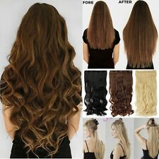 100% Real Thick Clip In Hair Extensions Long Curly Full Head Hair Extentions li3