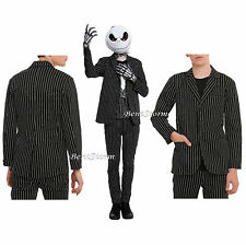 The Nightmare Before Christmas Pin Striped Suit Blazer Jacket Black White Men XL