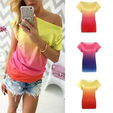 Hot Sexy Women's Lady Summer Off Shoulder Short Sleeve Blouse Casual Tops Shirt