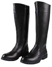 Mens Fashion Leather Zip Knee High Riding Military Long Boots Punk Shoes Sz W66