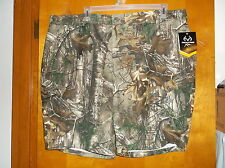 NEW  MEN'S REALTREE BROWN & TAN CAMO COLOR GUIDE SHORTS w/ BELT LOOP WAIST