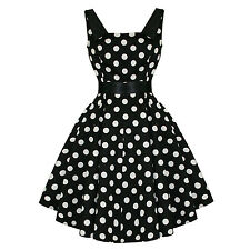 Hearts And Roses London Retro 50s Rockabilly Polka Dot Party Swing Prom Dress UK