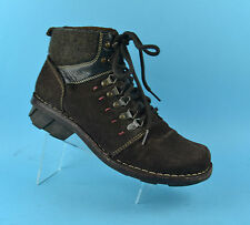 CAMEL ACTIVE Okinawa Brown Leather Womens Ankle Walking Boots Size 7 UK 40 EU