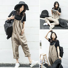 Retro Vintage Womens Casual Suspender Harem Loose Pants Jumpsuit Overall Romper