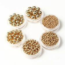 New Metal Round Ball Spacer Beads Gold Silver Bronze Copper Black 2/3/4/5/6/8mm