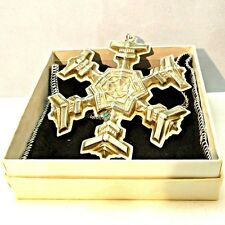 Vintage 1977 Gorham Sterling Silver Snowflake Christmas Ornament with Original B