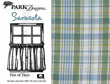 Sarasota Tiers by Park Designs, 72x24 or 72x36 Pair, Sunny Blue & Yellow Plaid