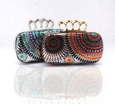 Colorful Womens Clutch Diamond Ring Handbags Bag Paillettes Purse Evening Bags