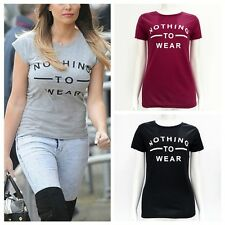 New Women's Lady Slim Cotton Short Sleeve Letter Print T-Shirt Summer Tee Tops