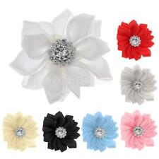 10pcs 3.5cm Satin Ribbon Flower For Wedding Decoration DIY Supplies Appliques