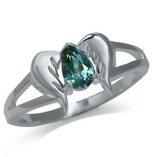 Color Change Alexandrite Doublet 925 Sterling Silver Angel Wings Ring