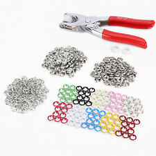 100 Sets 9.5mm 10 Colors Prong Ring Press Studs Snap Fasteners Dummy Clip Pliers