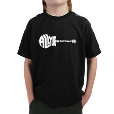 Boys' 'All You Need is Love' Guitar Graphic T-shirt