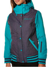 Billabong JA Varsity Jacket Womens Snowboard Waterproof Insulated Jade S $240