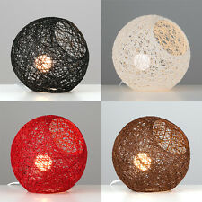 Modern Abaca Rattan / Wicker Style Ball Table Light Lamps Black White Red Brown