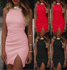 Sexy Women Sleeveless Bandage Short Mini Dress Bodycon Party Cocktail Clubwear U