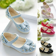 Summer Kids TODDLR Girls FlowerS Bow Flats Slip On Sandal Princess Single Shoes