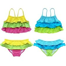 Girls Kids 2 Piece Tankini Bikini Swimwear Bathers Swimmers Swimsuit Size 2 - 8