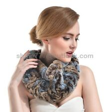 Real Genuine rex rabbit fur scarf neckerchief Collar wrap neck warmer Fashion