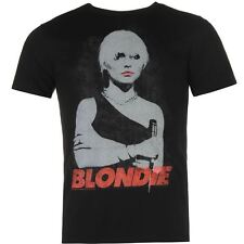 Official Mens T Shirt Blondie Music Band Summer Short Sleeve Crew Neck Tee