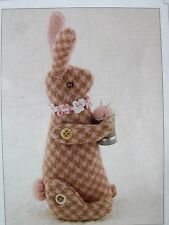 "Sewing Pattern # 1099 BITTY BUNNY Pin Cushion 5"" Bunny Hill Designs Uncut"