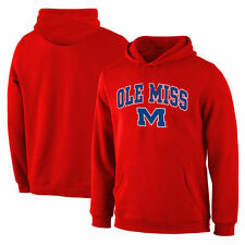 Ole Miss Rebels Campus Pullover Hoodie - Red - College