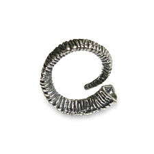 Silver Rams Horn Wrap Ring Trophy Bighorn Sheep Horn Bypass Hug Ring 298