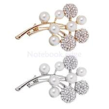 Partywear Jewelry Pearls Diamante Crystal Rhinestone Balls Branch Brooches Pins