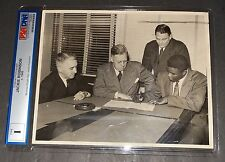Jackie Robinson (Type 1) Photo 1945 Signing 1st Contract Montreal Royals PSA/DNA