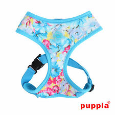 Any Size - PUPPIA - SPRING GARDEN - Dog Puppy Soft Harness - Blue