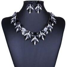 Charming Rhinestone Necklace Chain and Earrings Shining Crystal Jewelry Sets