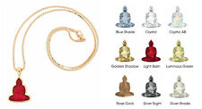 Buddha Pendant Necklace - Choose Your Own Stone Color & Chain!