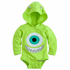 Monsters Inc. Mike Wazowski Bodysuit Costume Set  3-D Hood for Baby Disney Store