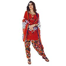 Ready To Wear French Crepe Printed Salwar Kameez Suit Indian Dress-Milly-3006