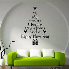 2016 Merry Christmas Wishing Vinyl Wall Stickers Decals Window XMAS Home Decor