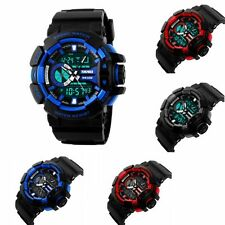 Waterproof Military Sport LED Army Digital Analog Watch Wrist Quartz Dual Time