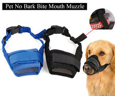 Adjustable Pet Dog Nylon Muzzle Mouth Grooming No Bark Bite Chewing Size S-2XXL