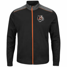 Cincinnati Bengals Majestic Team Tech Full-Zip Jacket - Black - NFL