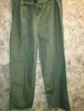 Olive scrubs pants dental medical unisex Cherokee 4100 drawstring short or tall