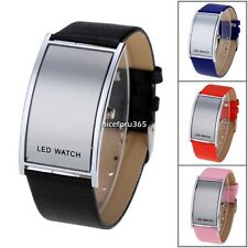 Fashion Men's Red LED Digital Watch Luxury Date Sports Quartz Wrist Watch Black