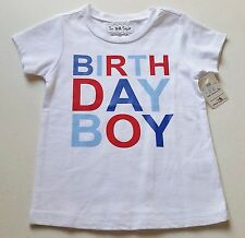 Boys TEE WITH SUGAR boutique t shirt 12M 18M 24M 2T 3T NWT 1st Birthday Boy flag