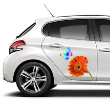 FLOWER BUTTERFLY SET DECAL CAR STICKERS GRAPHICS WINDOW WALL BODY PANEL NEW GIFT
